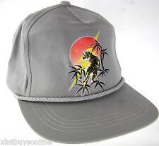Lightning Bolt Gray Snapback Baseball Cap Hat  Lightning Bolt Tiger