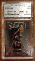 Michael Jordan Topps Finest Sterling #50 Basketball Card 1996 - 1997 TFA 9.0