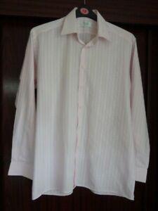 "Viyella Cotton Rich Pink Self Stripe Shirt Chest 42"""