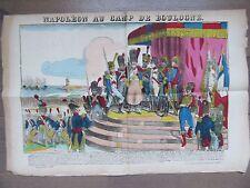 GRANDE IMAGE EPINAL 1880 NAPOLEON AU CAMP DE BOULOGNE