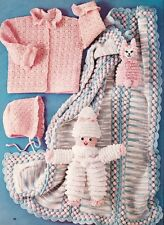 VINTAGE BABY SET, AFGHAN & TOYS - COPY Baby crochet pattern