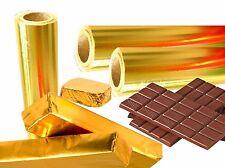 Oro Foglio Alluminio, Confezioni 20Μ Rotolo da M 45 Lfm ,Einwickelfolie,