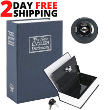 Book Safe Box Lock Vault Water Fire Proof Home Money Cash Sentry Key PROTECTION