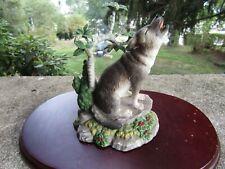 "Vintage 2001 Lenox Porcelain Figurine- Woodland Sentry- Grey Wolf ~ 5.0"" Tall"