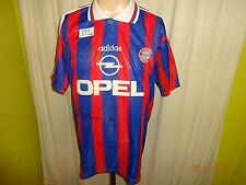 "FC Bayern München Adidas Heim Trikot 1995-1997 ""OPEL"" + Handsigniert Gr.L"