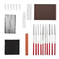 Guitar Repair Maintenance Tool Kit Bridge Pins+Files+String Height Gauge