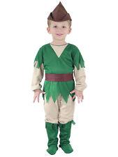 Boys 2-3 Yrs Robin Hood Peter Pan Hunter Fancy Dress Costume Book Week Childs