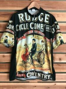 Rare VTG Louis Garneau Rudge Coventry World Record Cycling Co 1/2 Zip Jersey XL