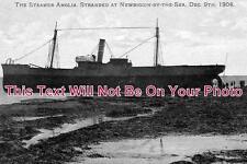 NO 89 - S S Anglia Ship, Newbiggin By The Sea, Northumberland 1904 - 6x4 Photo