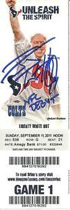 J.J. Watt Autographed NFL Debut Ticket 9/11/2011 Texans Cardinals ! JJ ! JSA W