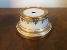 Antique 19th century Vienna Porcelain Round Display Stand Base White & Gold