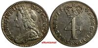Great Britain George II Silver 1746 4 Pence Maundy KM# 570