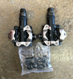 Shimano PD-M520 MTB SPD Pedals Black With Cleats