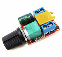5pcs Mini DC 5A Motor PWM Speed Controller 3V-35V Speed Switch LED Dimmer