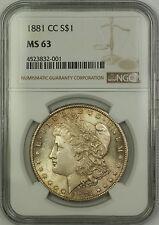 1881-CC Carson City Morgan Silver Dollar $1 Coin NGC MS-63 Lightly Toned (15)
