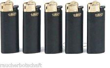 BIC MINI Feuerzeug schwarz gold 50 Reibrad SCHWARZ J 25 Display 413