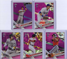 2017 Topps Chrome Pink Complete Set - NM