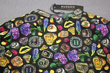 HUDSON Rare Mens Championship Ring Print All Over Crewneck Sweatshirt NWT M  $98