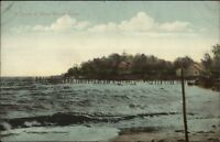 Short Beach CT Storm c1910 Postcard