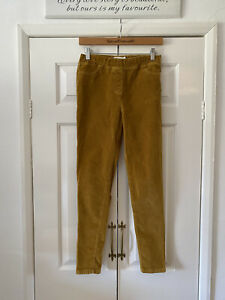 Boden Trousers Age 14 Mustard Yellow Cord Corduroy Jeggings Autumn Winter Casual