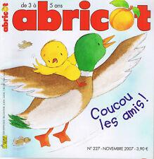 Revue abricot * revue n° 227 2007 * parapluie petit frère fantôme jeux histoires