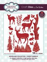 Sue Wilson Dies Woodland Collection CHOOSE Forest Animals,Pine Cones, Birch Tree