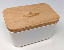 Limited Edition Vintage Bertolli Butter Dish with Wooden Lid Modern Home Stylish