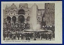 VENEZIA Piazza San Marco 1884  Inaugurazione acquedotto NV anni 40 FG #20524