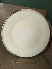 """70's Lenox Moonspun 8 1/8"""" Salad Plate Platinum Trim Dimension Cullum's Augusta"""