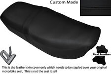 BLACK STITCH CUSTOM FITS HONDA CB 650 SC NIGHTHAWK 82-85 DUAL LEATHER SEAT COVER