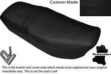BLACK STITCH CUSTOM FITS HONDA CB 650 SC NIGHTHAWK 82-85 DUAL LEATHER SEAT COVER