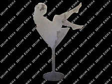 Cocktail Lady Dancer Sexy Pinup Nude Lounge Man Cave Metal Wall Art Sign