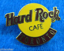 TORONTO CANADA CLASSIC YELLOW LOGO 3LC TAC BACK Hard Rock Cafe PIN