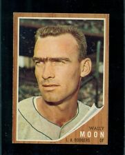 1962 Topps Baseball Card, #190, Wally Moon, Los Angeles Dodgers, No Cap, NM!