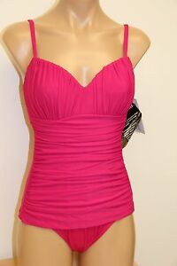 New Womens Miraclesuit Swimsuit 1pc swimwear  sz 14 Rialto Fuchsia RD
