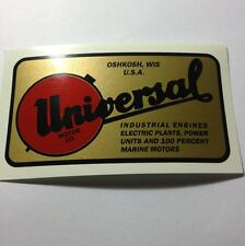 B&S Universal Motor Co. Decal For Water Cooled N, 8, Z Generator Oshkosh Wis