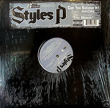"""STYLES P """"CAN YOU BELIEVE IT'"""" 12"""" AKON PA 2005 SS!!!"""