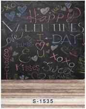 5x7FT Happy Valentine Day Blackboard Kiss Photo Studio Background Backdrop Vinyl