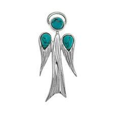 Turquoise and Sterling Silver Angel Pendant