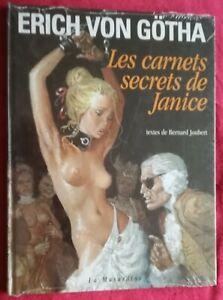 RARE EO BD ERICH VON GOTHA  LES CARNETS SECRETS DE JANICE Originalverpackt