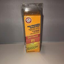 Arm & Hammer Hepa 62647 Dirt Devil F1 Vacuum Filter Odor Eliminating - NEW