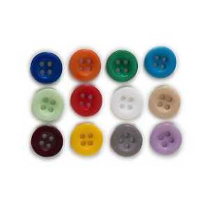 100pcs Thick Resin button Sewing Scrapbook Clothing Handmade Craft Decor 10-15mm