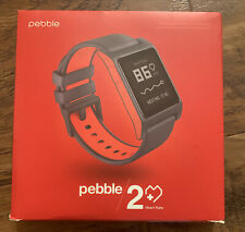 Pebble 2 + Heart Rate Black/Flame Polycarbonate Case Classic Buckle -...