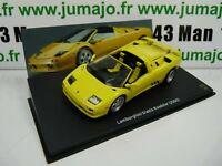LB10O voiture 1/43 IXO LAMBORGHINI  DIABLO Roadster 2000 jaune