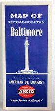 Amoco gaz-map of Metropolitan Baltimore 1953