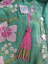 pompon en perles rose et doré N°6