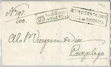 ANTICHI STATI  storia postale - PRECURSORI busta prefilatelica: MODENA 1825