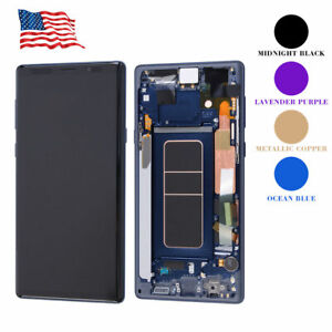 For Samsung Galaxy Note 9 OLED LCD Display Touch Screen Digitizer Assembly+Frame