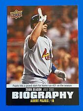 2010 Upper Deck Season Biography #SB108 Albert Pujols