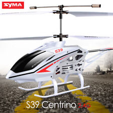 Syma S39 3.5 Channel Remote Control LED Light RC Helicopter Toys White AU Stock